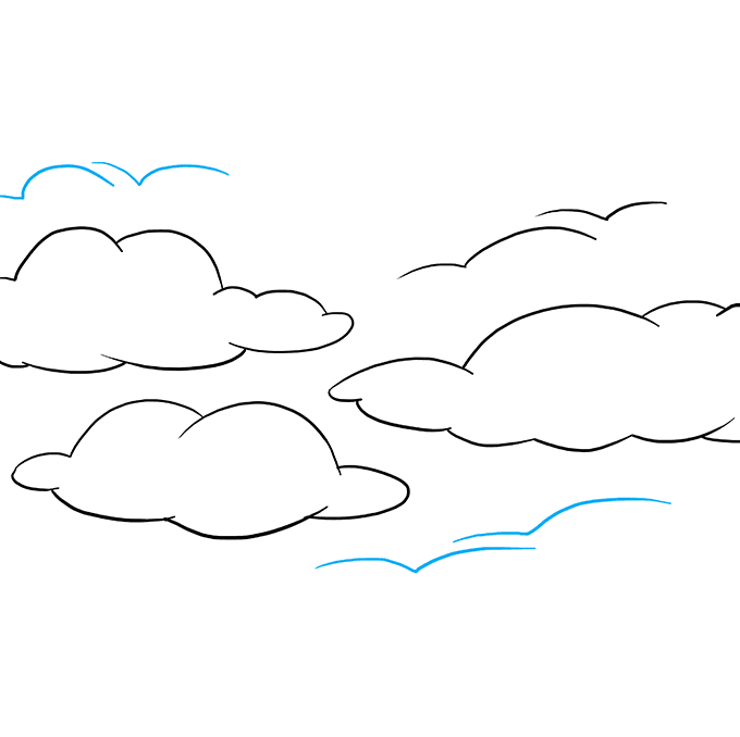 How to Draw Sky: Step 8