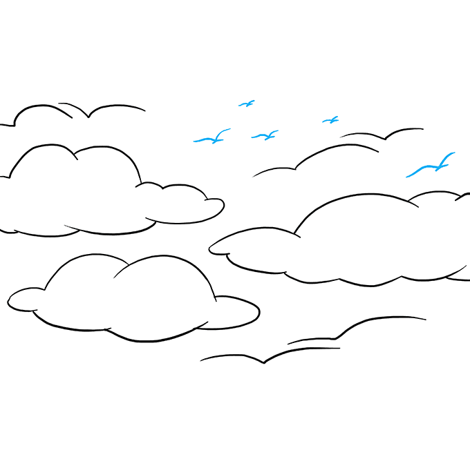 How to Draw Sky: Step 9