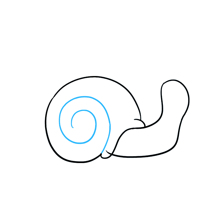 How to Draw a Snail Step 03