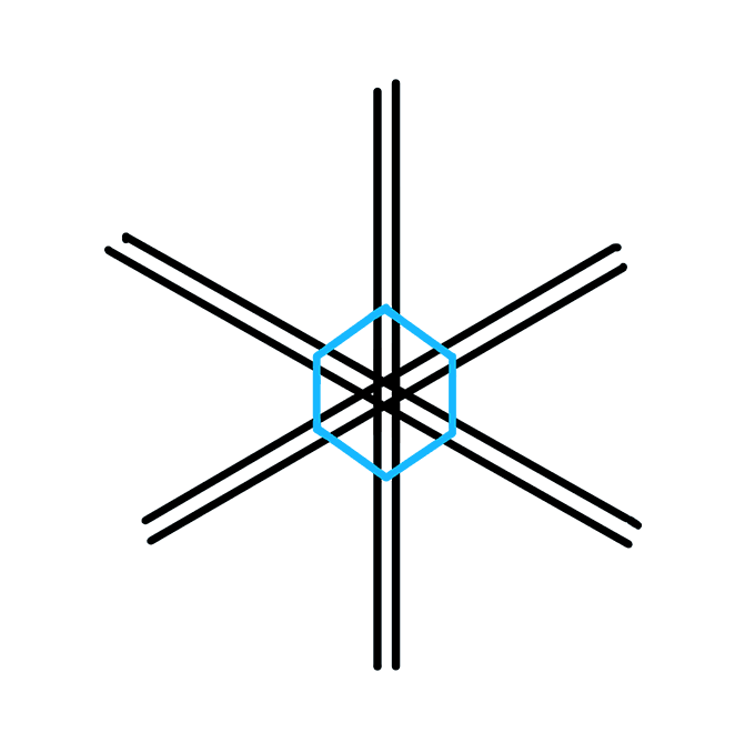 How to Draw Snowflake: Step 4