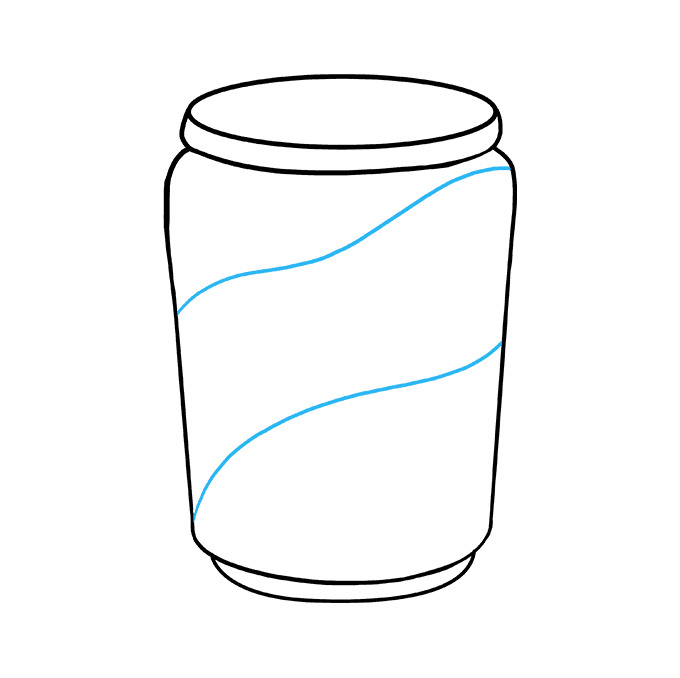 How to Draw Soda Can: Step 6
