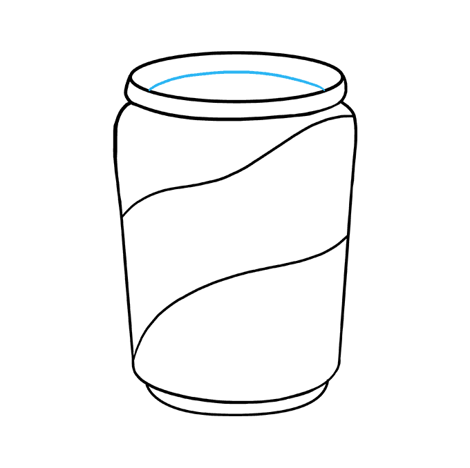 How to Draw Soda Can: Step 7