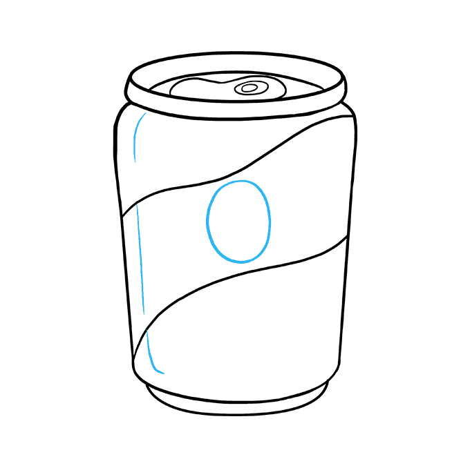 How to Draw Soda Can: Step 9