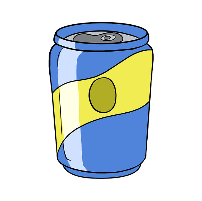 How to Draw Soda Can: Step 10