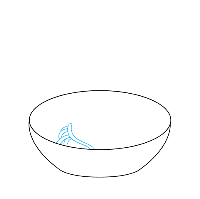 How to Draw a Spaghetti Step 02