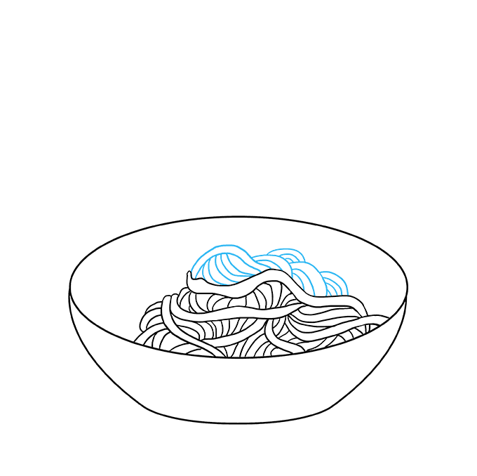 How to Draw a Spaghetti Step 05