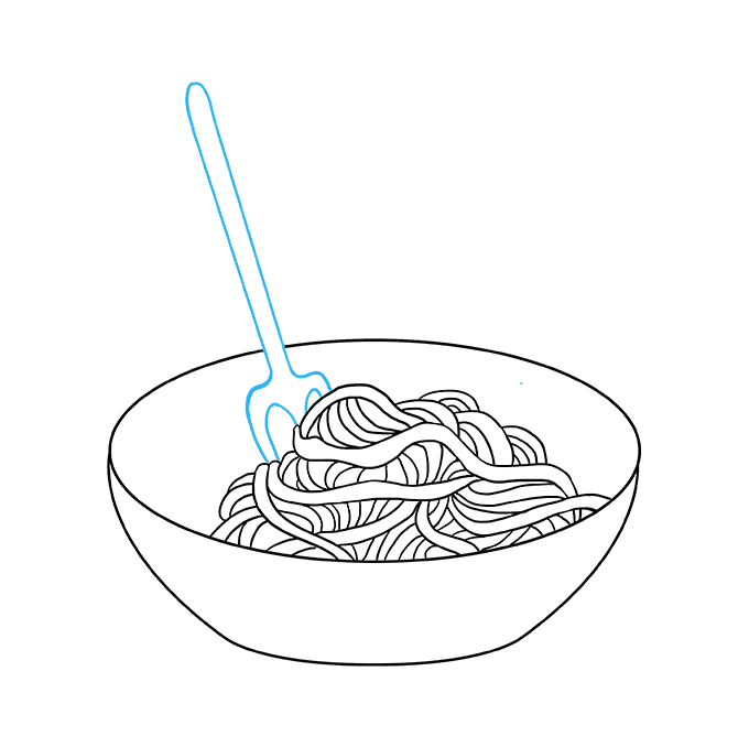 How to Draw a Spaghetti Step 06
