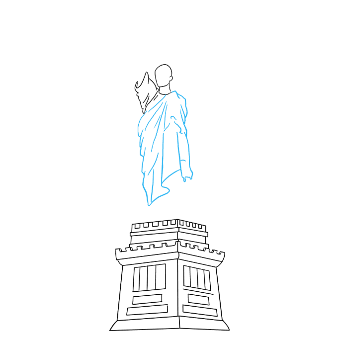 How to Draw Statue of Liberty: Step 5