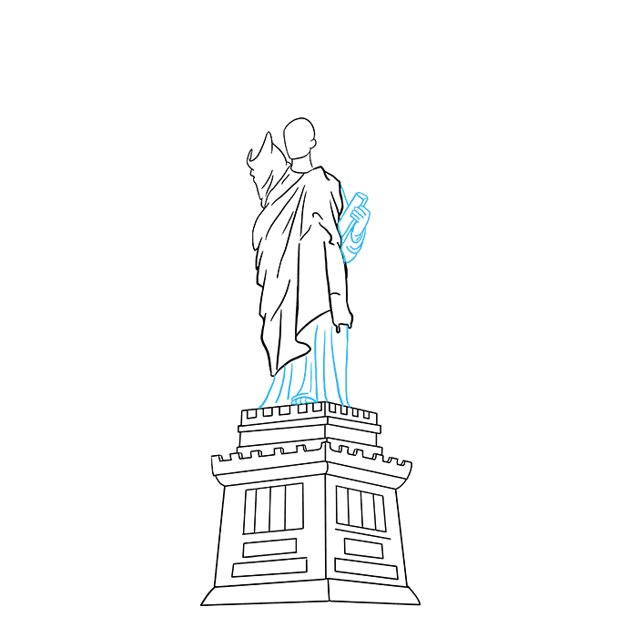 How to Draw Statue of Liberty: Step 6