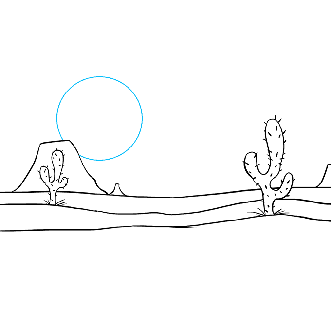 How to Draw Desert: Step 8