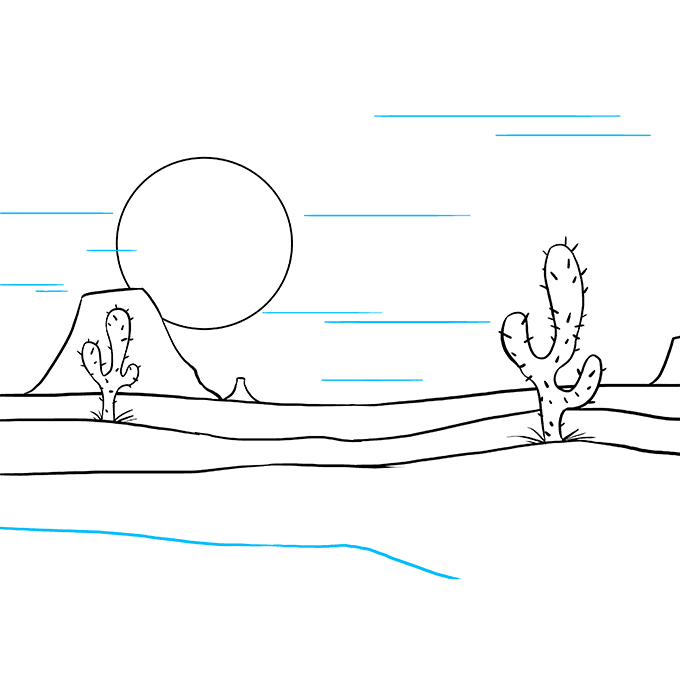 How to Draw Desert: Step 9