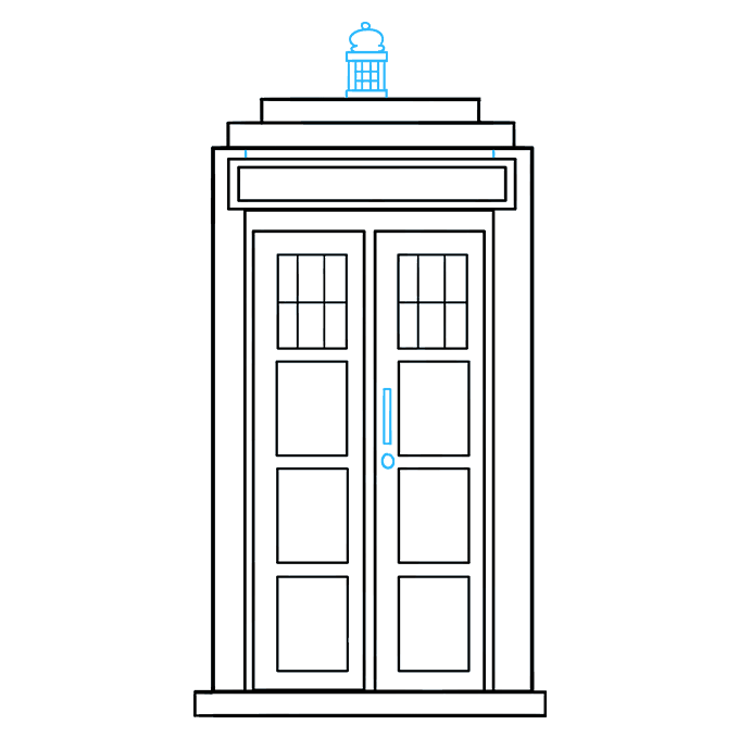 How to Draw Tardis: Step 8