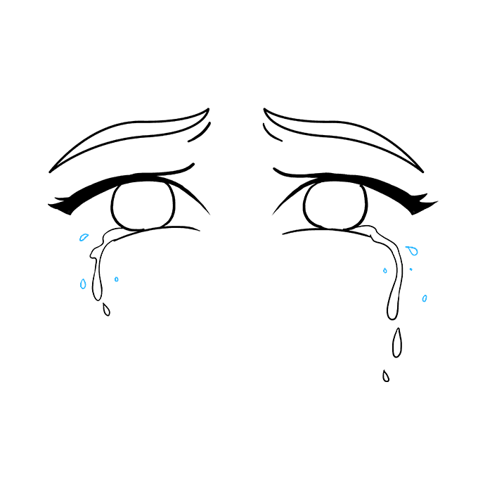 How to Draw Tears Step 08