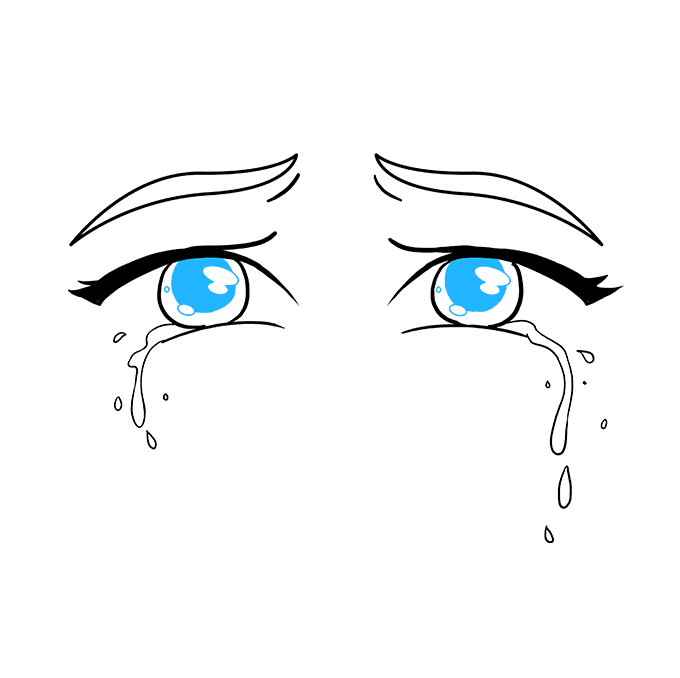 How to Draw Tears: Step 9