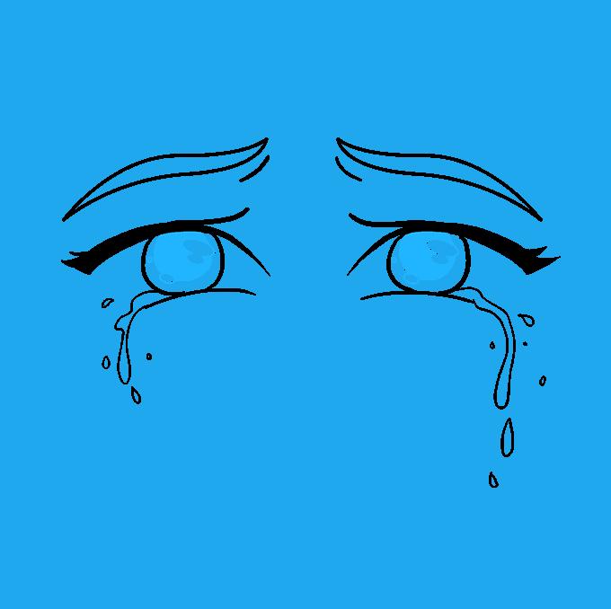 How to Draw Tears Step 09