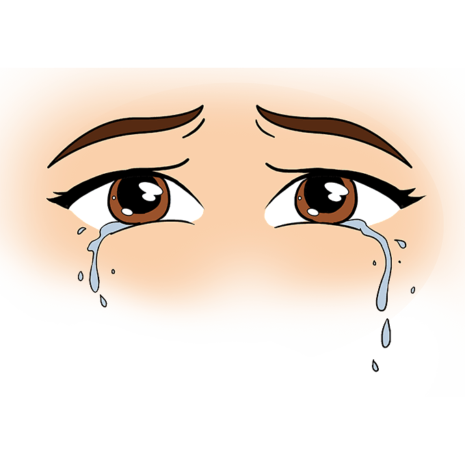How to Draw Tears: Step 10