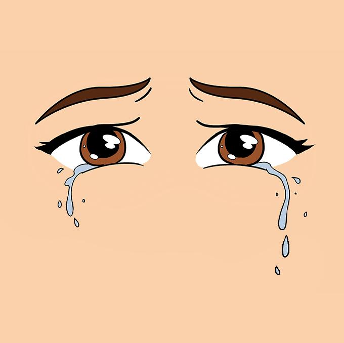 How to Draw Tears Step 10