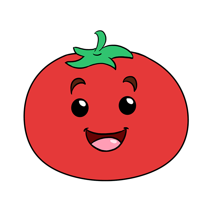 How to Draw Tomato: Step 10