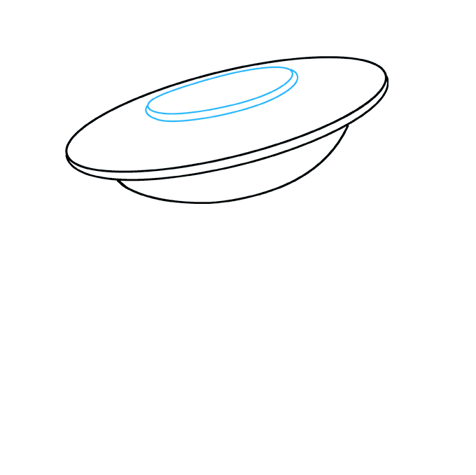 How to Draw UFO: Step 4