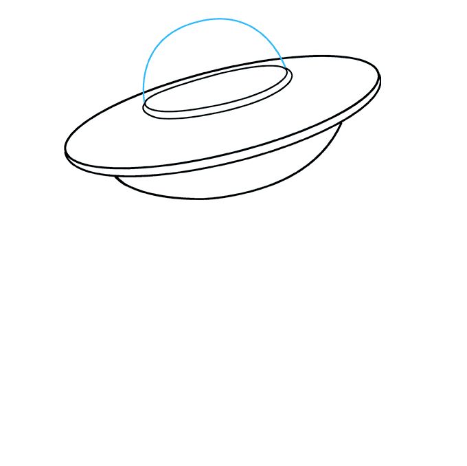How to Draw UFO: Step 5