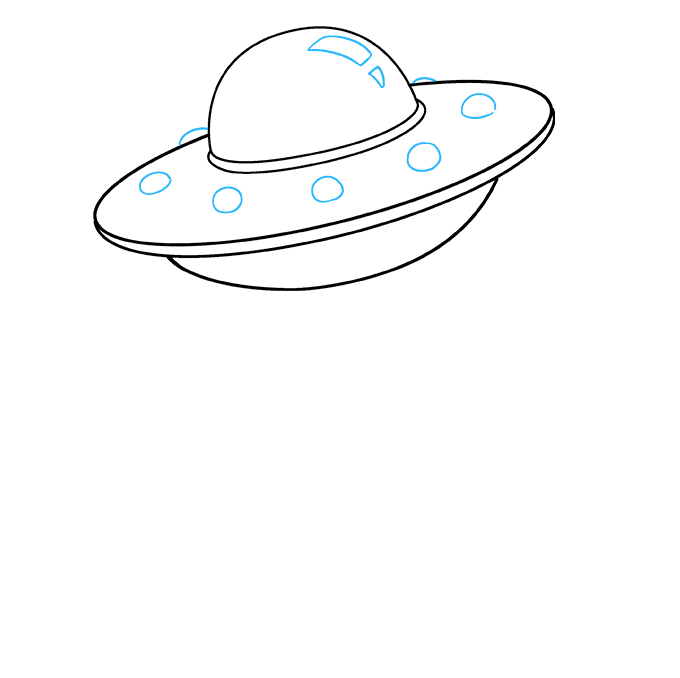How to Draw UFO: Step 7
