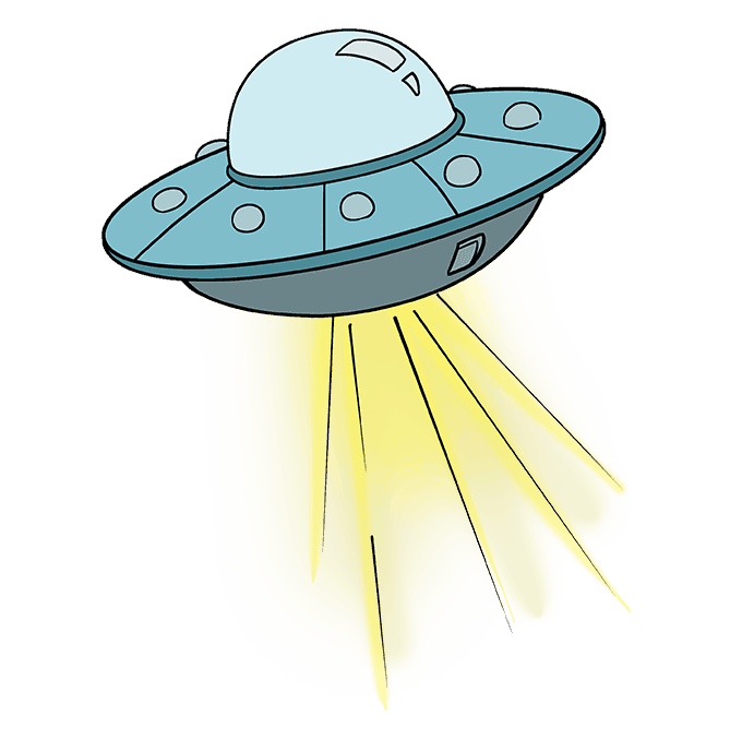How to Draw UFO: Step 10