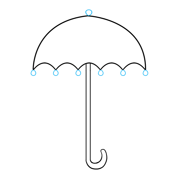 How to Draw an Umbrella Step 08
