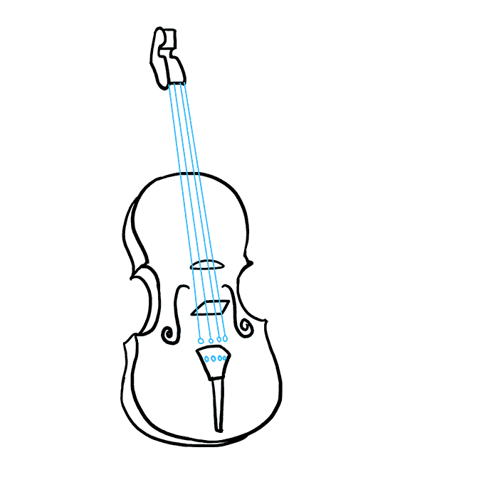 How to Draw Violin: Step 8