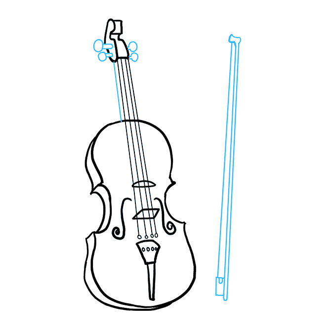 How to Draw Violin: Step 9