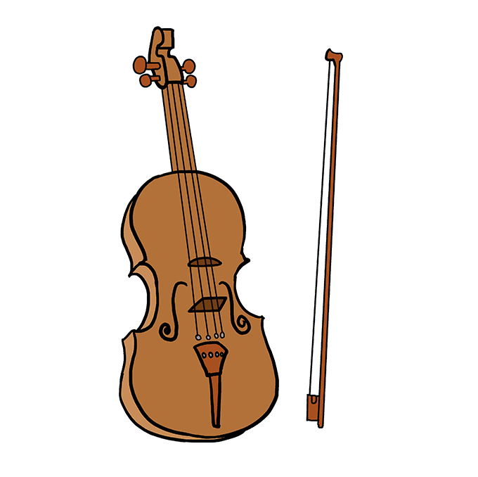 How to Draw Violin: Step 10