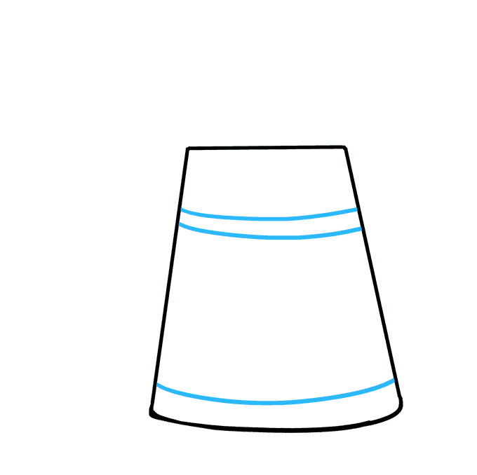 How to Draw a Watering Can Step 02