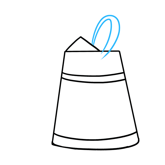 How to Draw a Watering Can Step 04