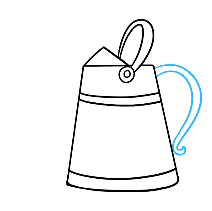 How to Draw a Watering Can Step 06