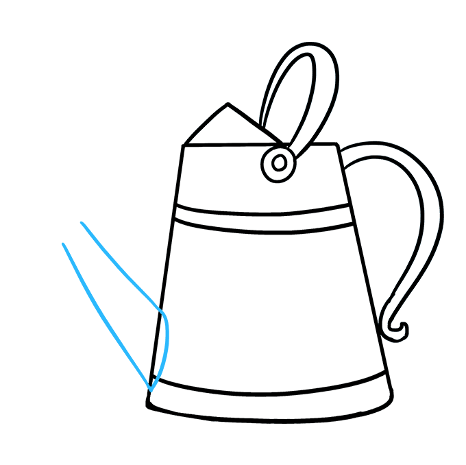 How to Draw a Watering Can Step 07