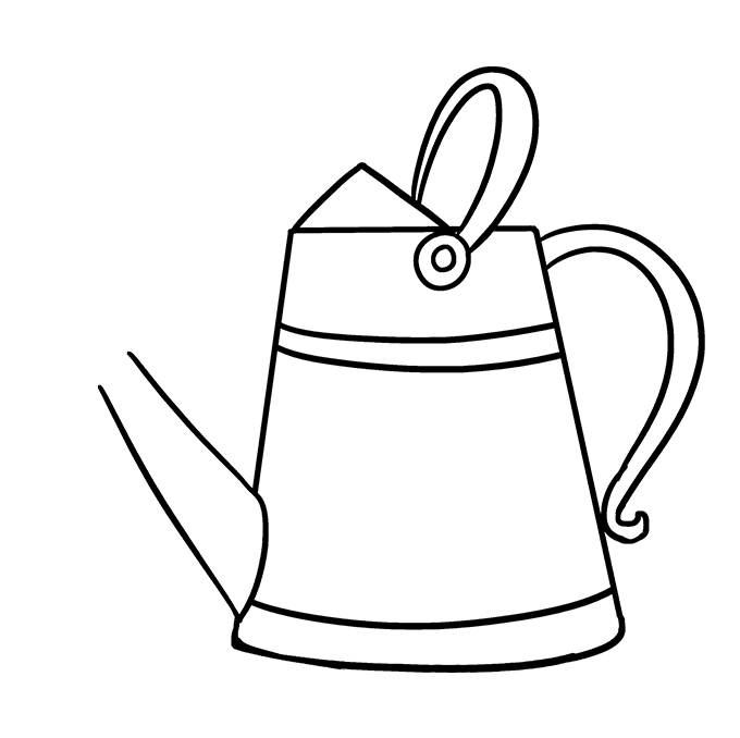 How to Draw a Watering Can Step 08
