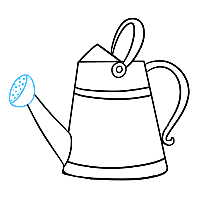 How to Draw a Watering Can Step 09
