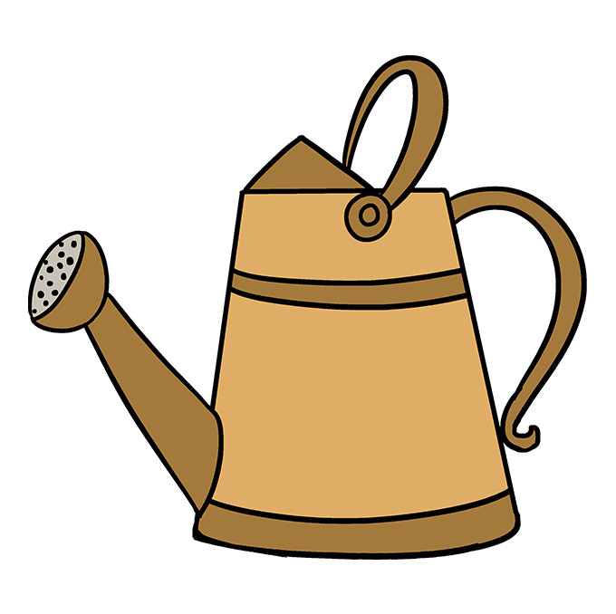 How to Draw a Watering Can Step 10