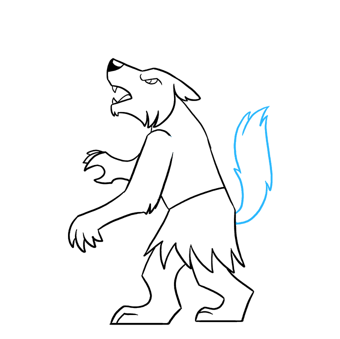 How to Draw Werewolf: Step 8