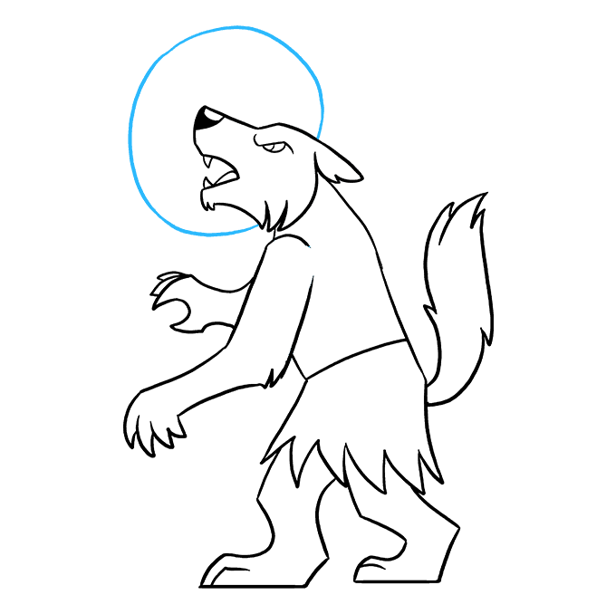 How to Draw Werewolf: Step 9