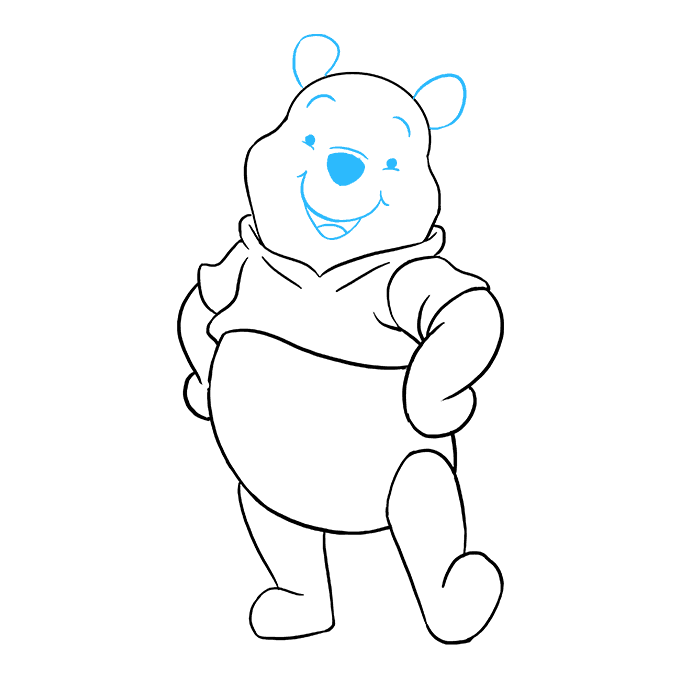 How to Draw Winnie the Pooh Step 09