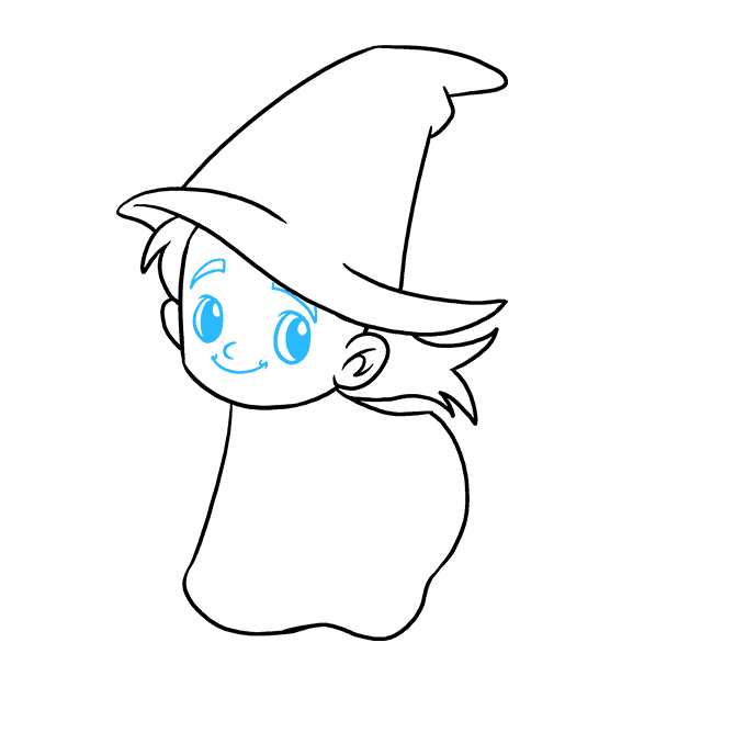 How to Draw Witch: Step 6