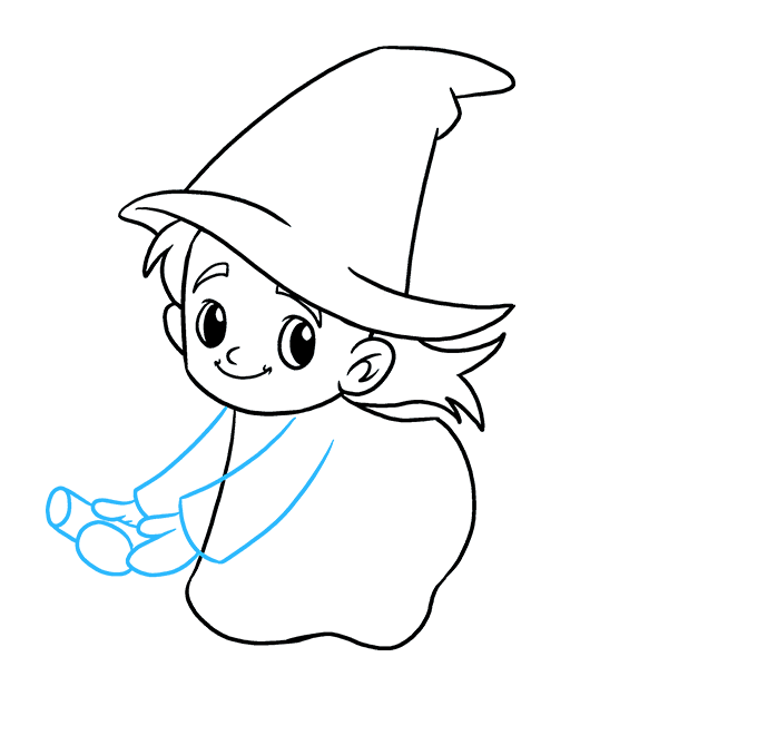 How to Draw Witch: Step 7