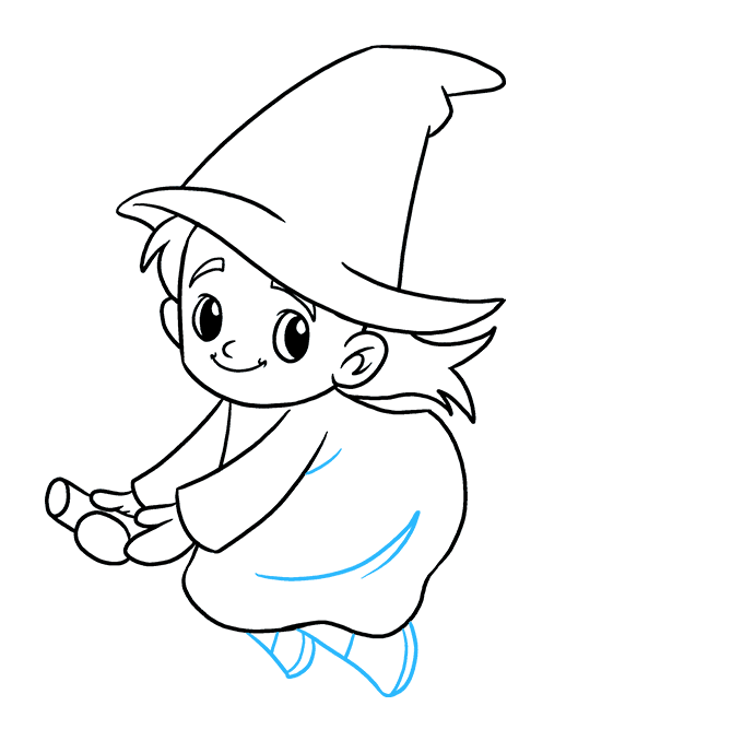 How to Draw Witch: Step 8