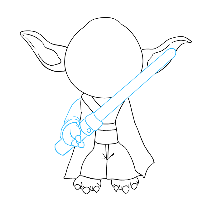 How to Draw Yoda: Step 6