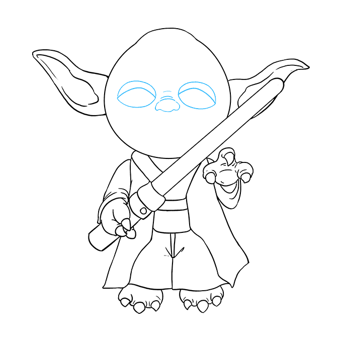 How to Draw Yoda: Step 8