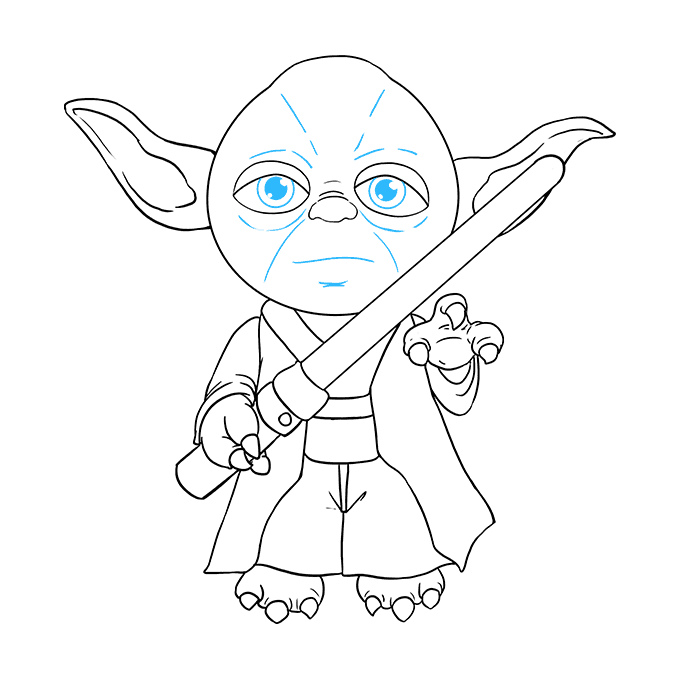 How to Draw Yoda: Step 9
