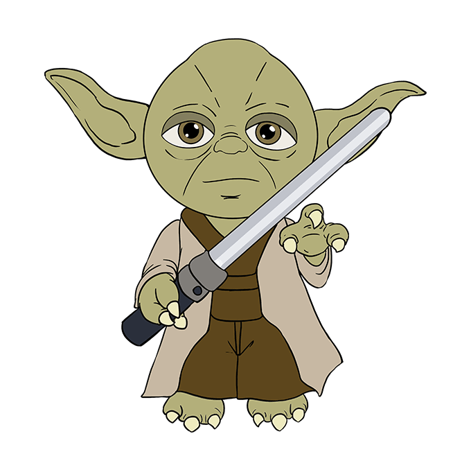 How to Draw Yoda: Step 10