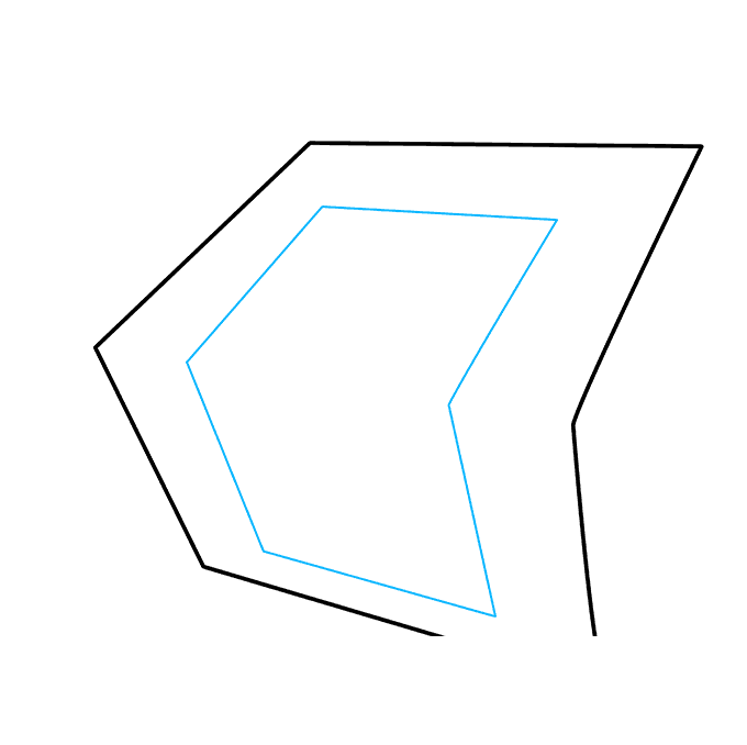 How to Draw 3D Stairs: Step 2