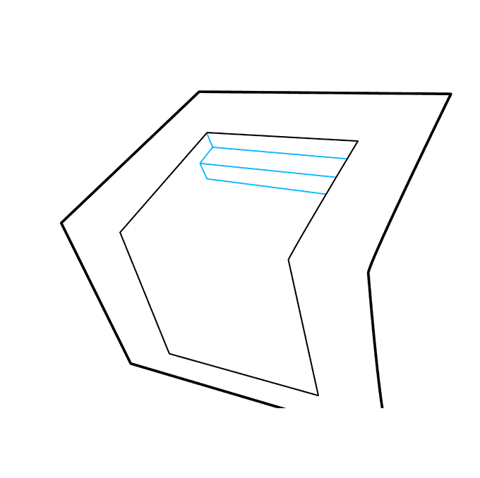 How to Draw 3D Stairs: Step 3