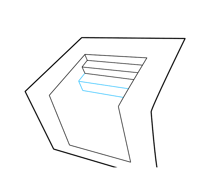 How to Draw 3D Stairs: Step 4